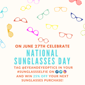 National Sunglasses Day promotional graphic